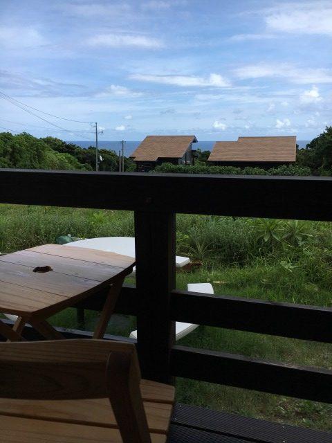 屋久島の美しい空と海を眺められます。開放的!